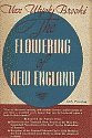 'The Flowering of New England, 1815-1865 by Van Wyck Brooks hardcover front cover