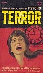 The front cover of 'Terror' by Robert Bloch.