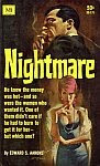 The front cover of 'Nightmare' by Edward S. Aarons.