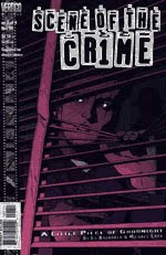 A color photo of the front cover of issue number one of 'Scene of the Crime' written by Ed Brubaker, art by Michael Lark.