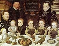 color photo of a 1567 portrait of the Cobham family