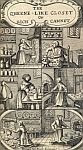 color photo of the frontispiece illustration of Hannah Woolley's 'The Queen-like Closet, or Rich Cabinet'