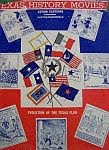 color photo of the dust jacket of a 1943 hardcover edition copy of Texas History Movies