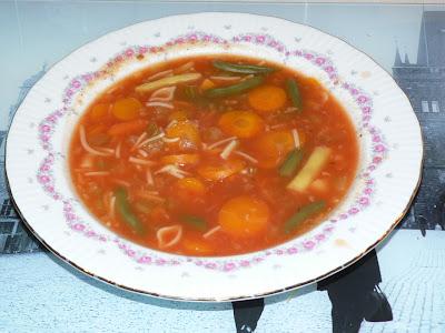 Cuisine chic et simple soupe aux l gumes de ma belle maman - Soupe de legumes maison ...