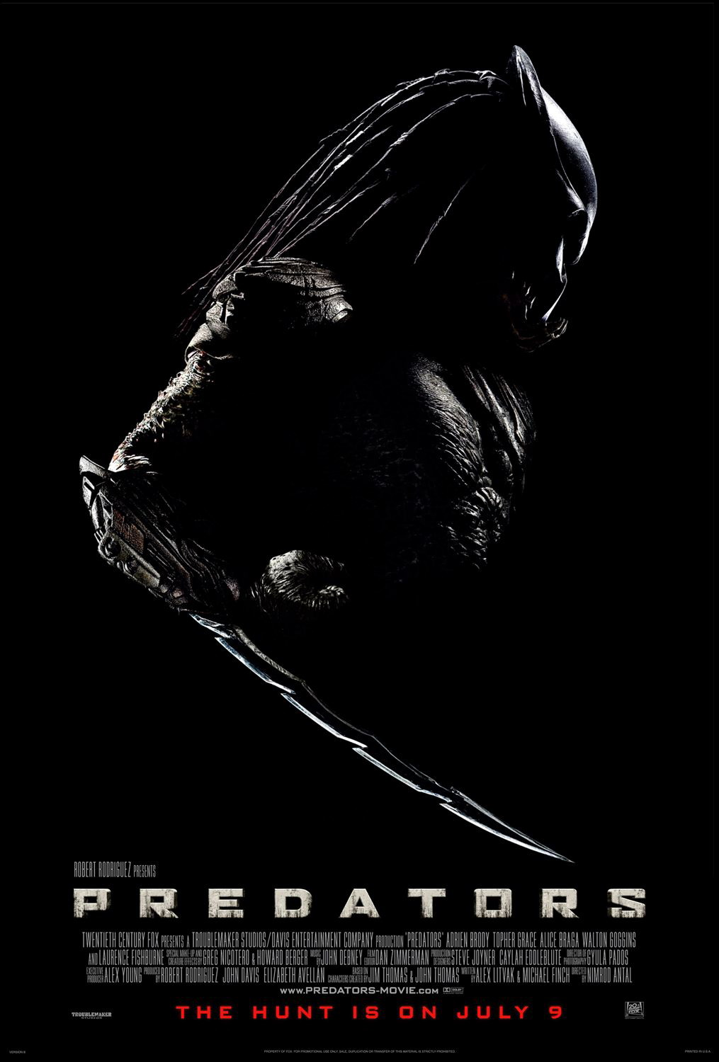 Predators Poster - 2010 MovieYeezus Movie Poster
