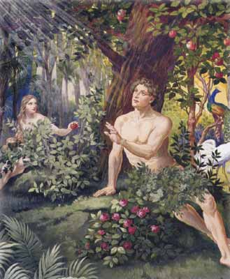 La ra z de la tentaci n for Adan y eva en el jardin