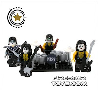 Custom KISS minifigures from Firestar Toys UK