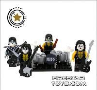 Custom KISS minifigures from Firestar Toys UK