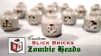 Slick Bricks Custom Zombie Heads