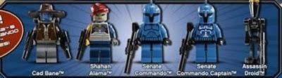 LEGO Star Wars Cad Bane's Speeder Minifigures