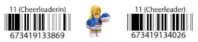 LEGO Collectible Minifigure Series 1 Cheerleader Bar Code