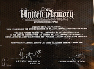 United Armory Certificate Amazing Armory