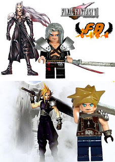 Family Bricks Cloud and Sephiroth Final Fantasy 7