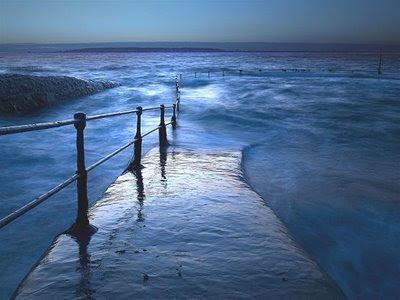 oceano,mar azul,ponte,caminho d'agua