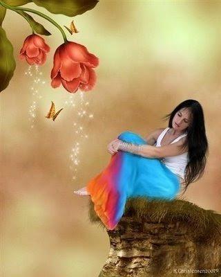 pessoas,mulher,flores,borboletas