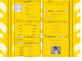 Yellow Skinny Myspace Layouts