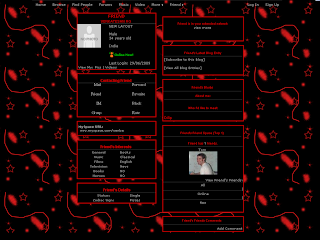 Black and Red Skinny Layouts