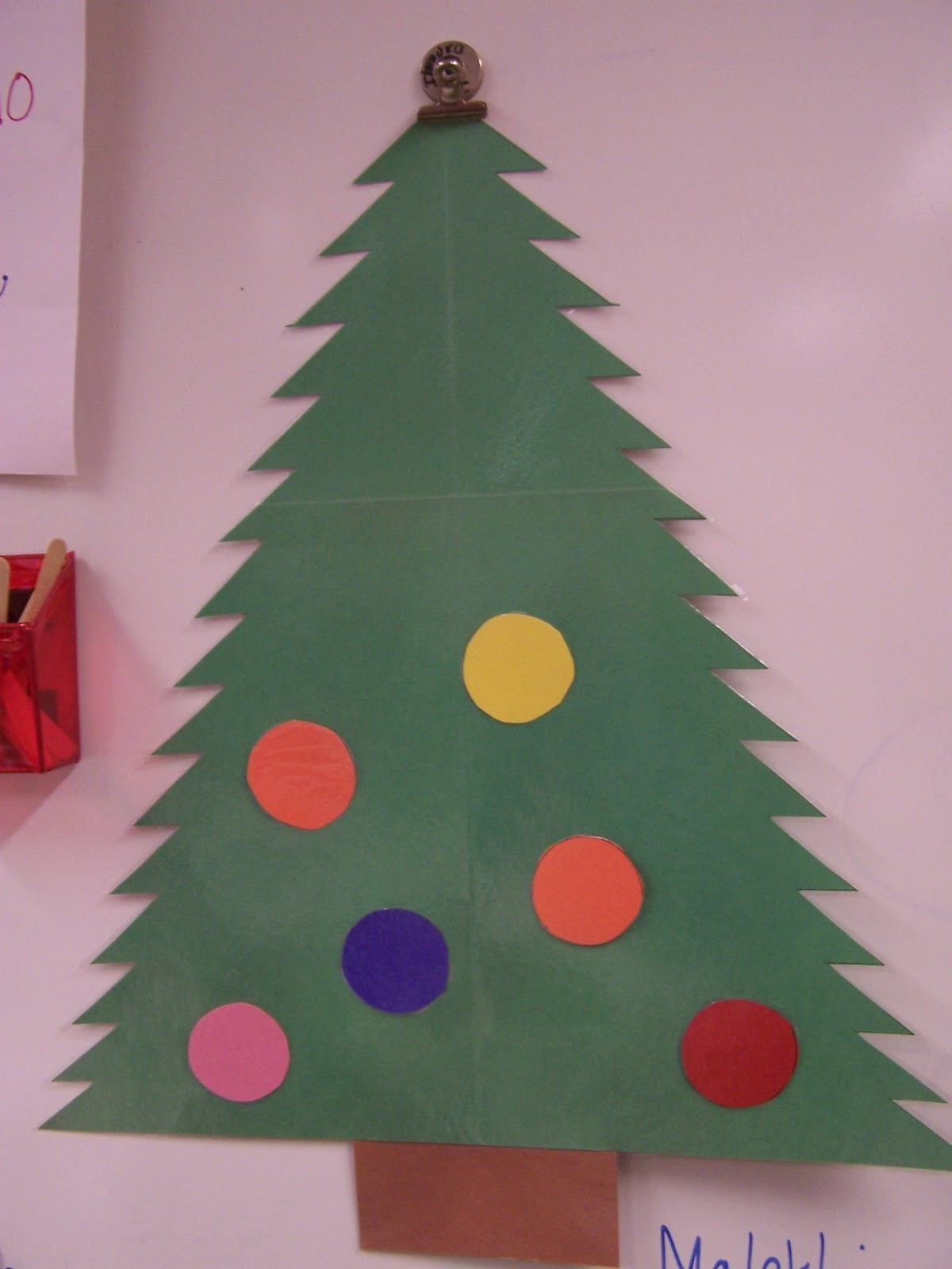 How To Make Christmas Tree Ornaments Out Of Construction Paper : Fun in first grade december
