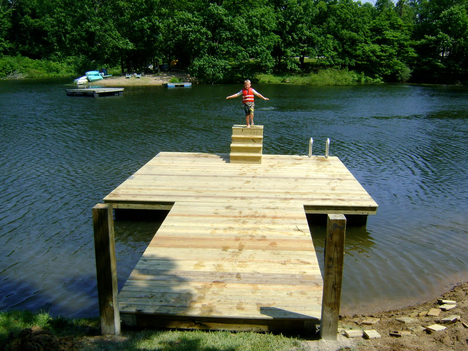 how to build a simple floating dock