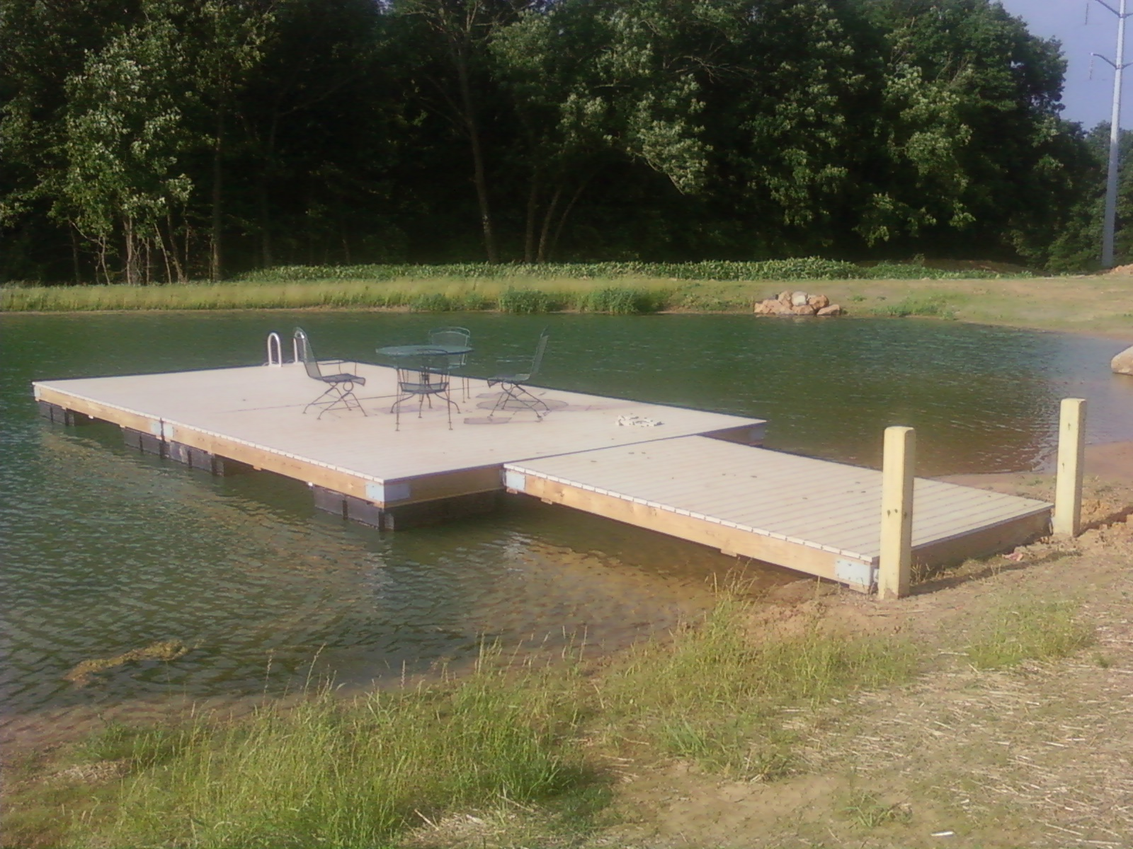 Herman brothers blog building a floating dock pictures for Building a small lake
