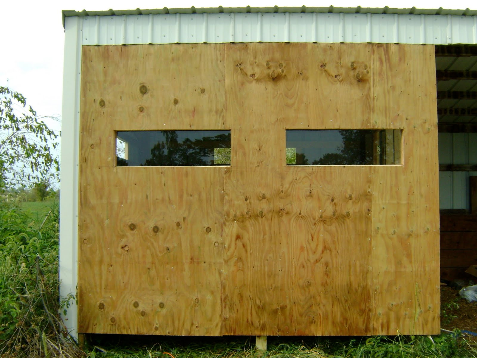 Herman brothers blog building a deer blind for hunting for Building deer blind windows