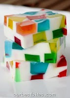 Glass Block Holiday Jello {Festive!}