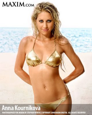 Enjoy the sexy photos of Anna Kournikova in Maxim Magazine Sept. 2008 issue.