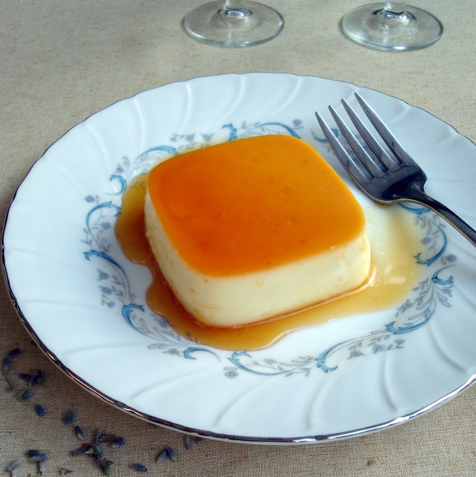 Creamy Lavender Flan - A Spicy Perspective