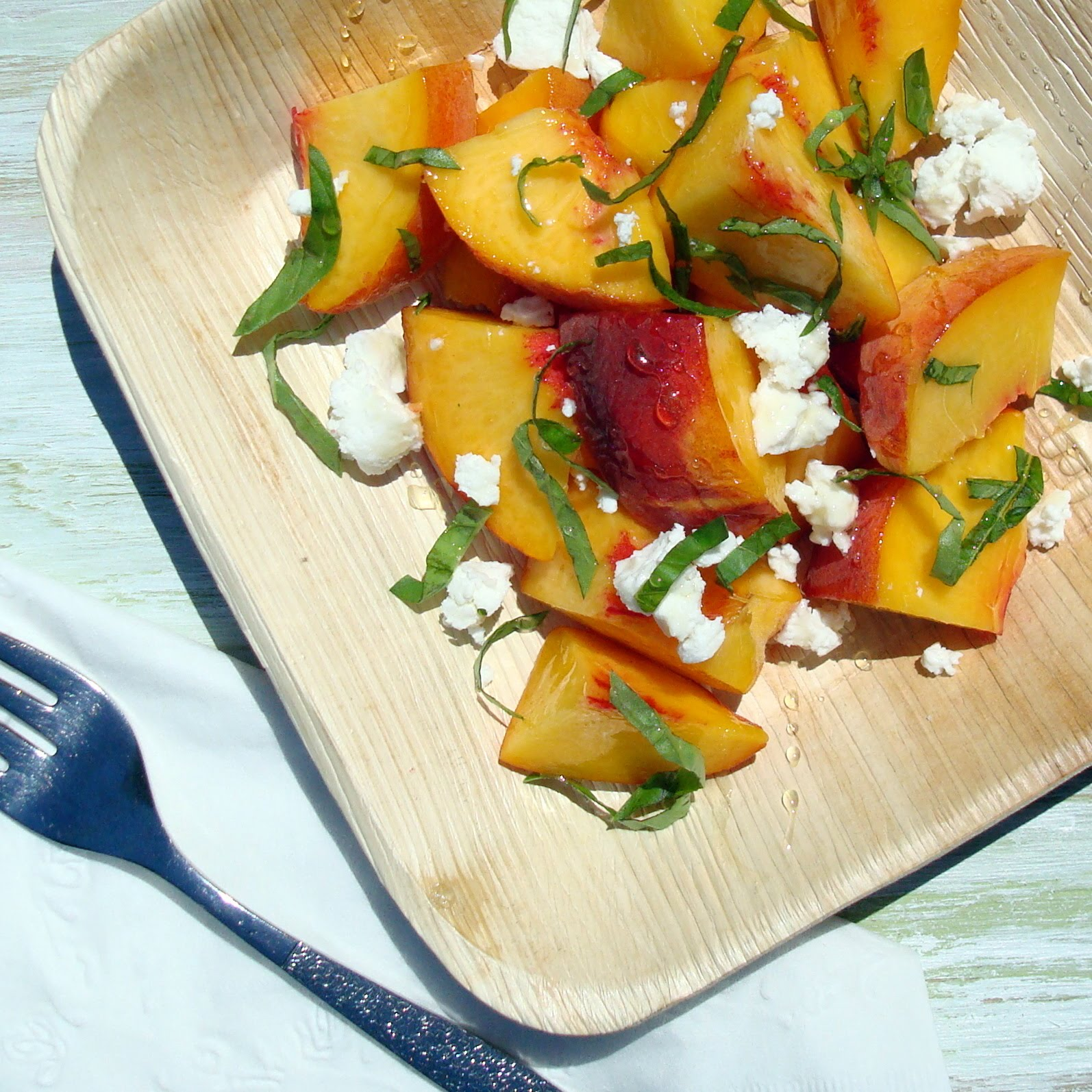 Fresh Peach and Basil Salad - A Spicy Perspective