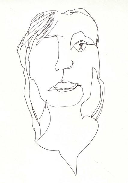 Blind Contour Line Drawing Self Portrait : The matchbook drawing blind self portrait