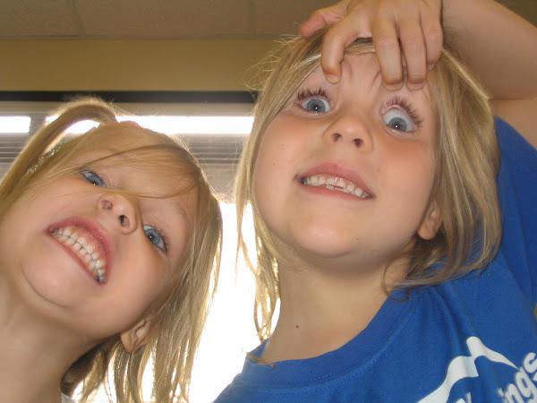 Jocelyn and Jasmine being goofy
