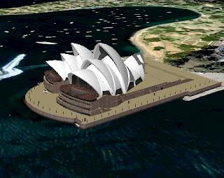 דגם תלת מימדי של בית האופרה בסידני, אוסטרליה