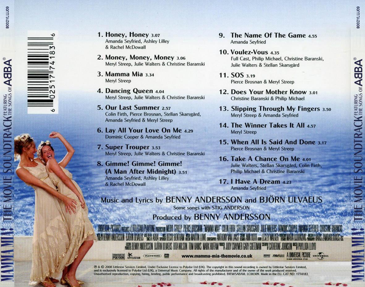 mamma mia movie soundtrack wwwimgkidcom the image