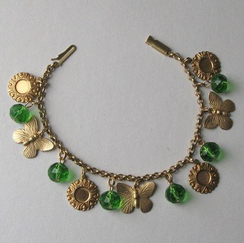 Butterfly Green charm bracelet