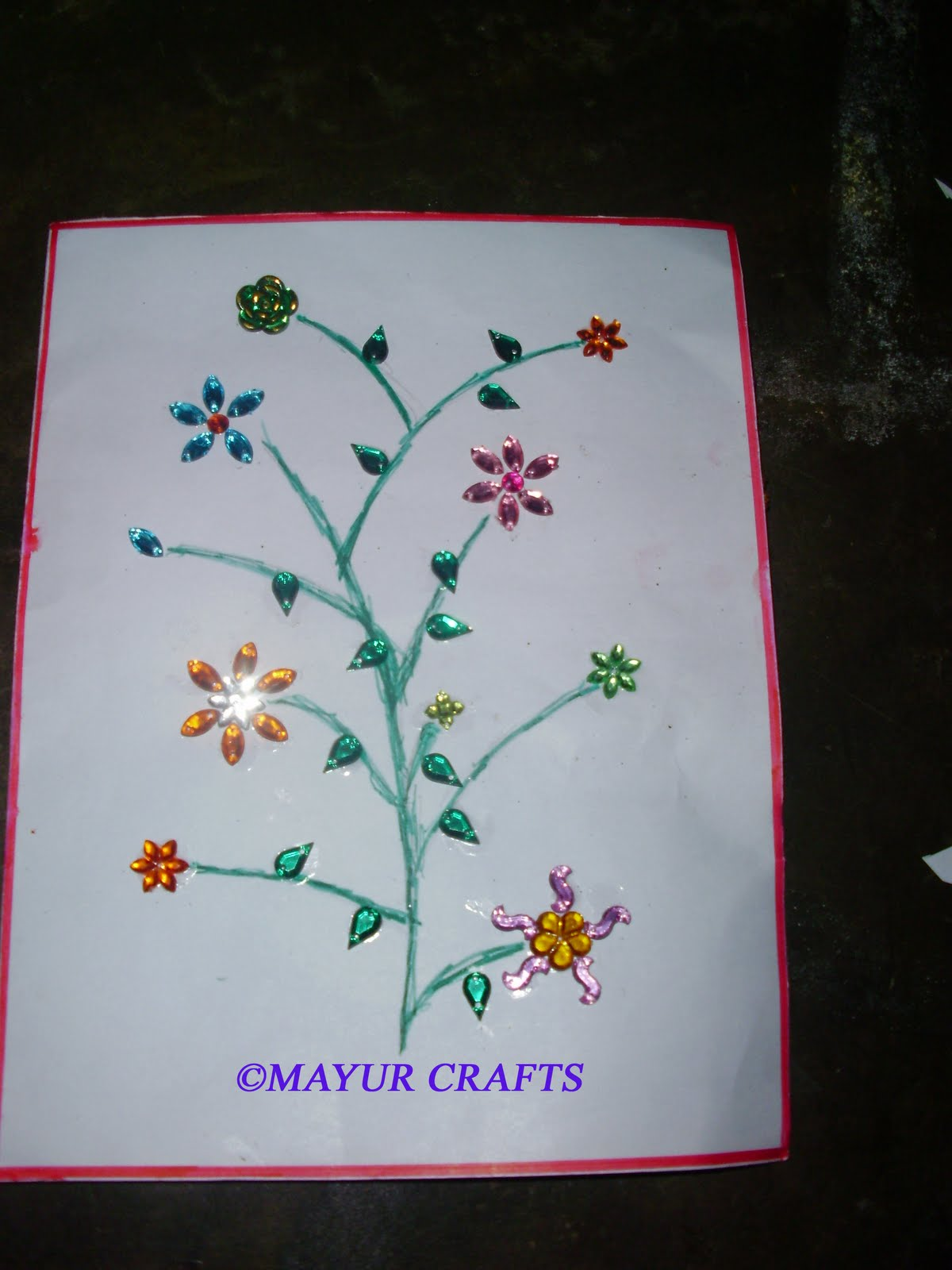 mayur arts crafts greeting card