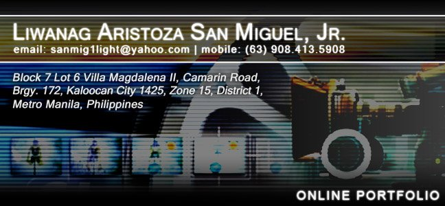 Liwanag A. San Miguel Online Folio