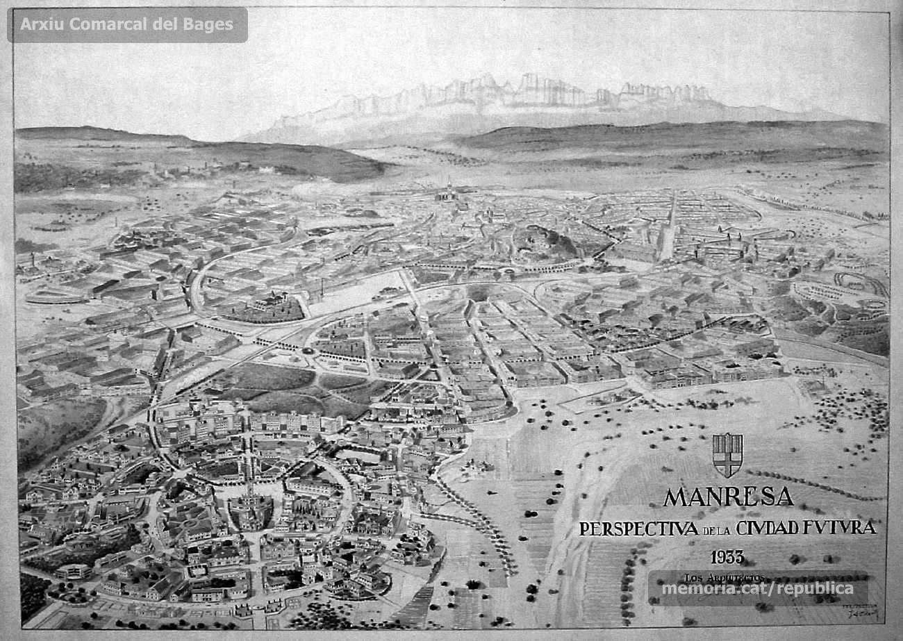 Hist ries manresanes el pla armengou o l 39 eixample de 1933 for Piscina municipal manresa