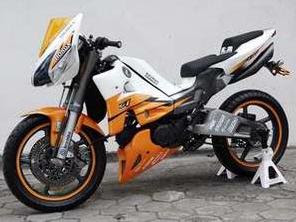 Modifikasi Motor Supra Fit Upside Down Racing Sportbike