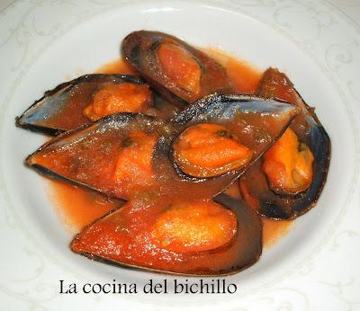 La cocina del bichillo mejillones en salsa for Cocinar mejillones en salsa
