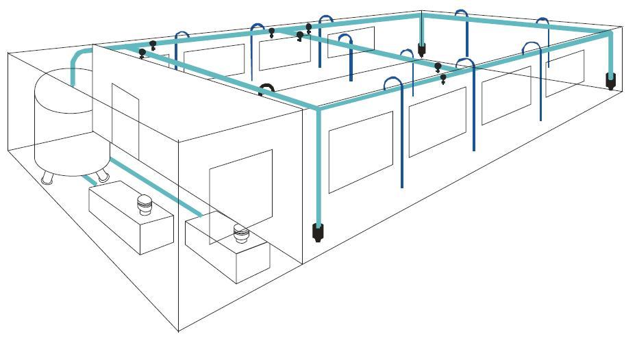 Automatizaci n industrial distribuci n de aire comprimido for Red de una oficina