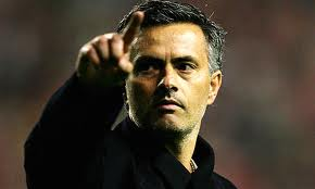 Mourinho during the match against Sevilla in Spanish Cup Semifinal