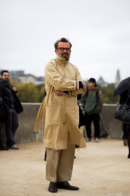 The Sartorialist: On the Street...Trenched Up, Paris :  men trench coat khaki