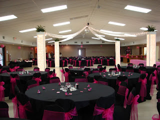 Elegant Black Wedding Reception Decorations