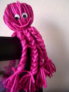 pink yarn octopus