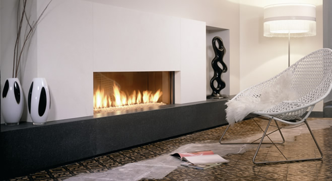 Modern Fireplace Design with Hearth 659 x 360