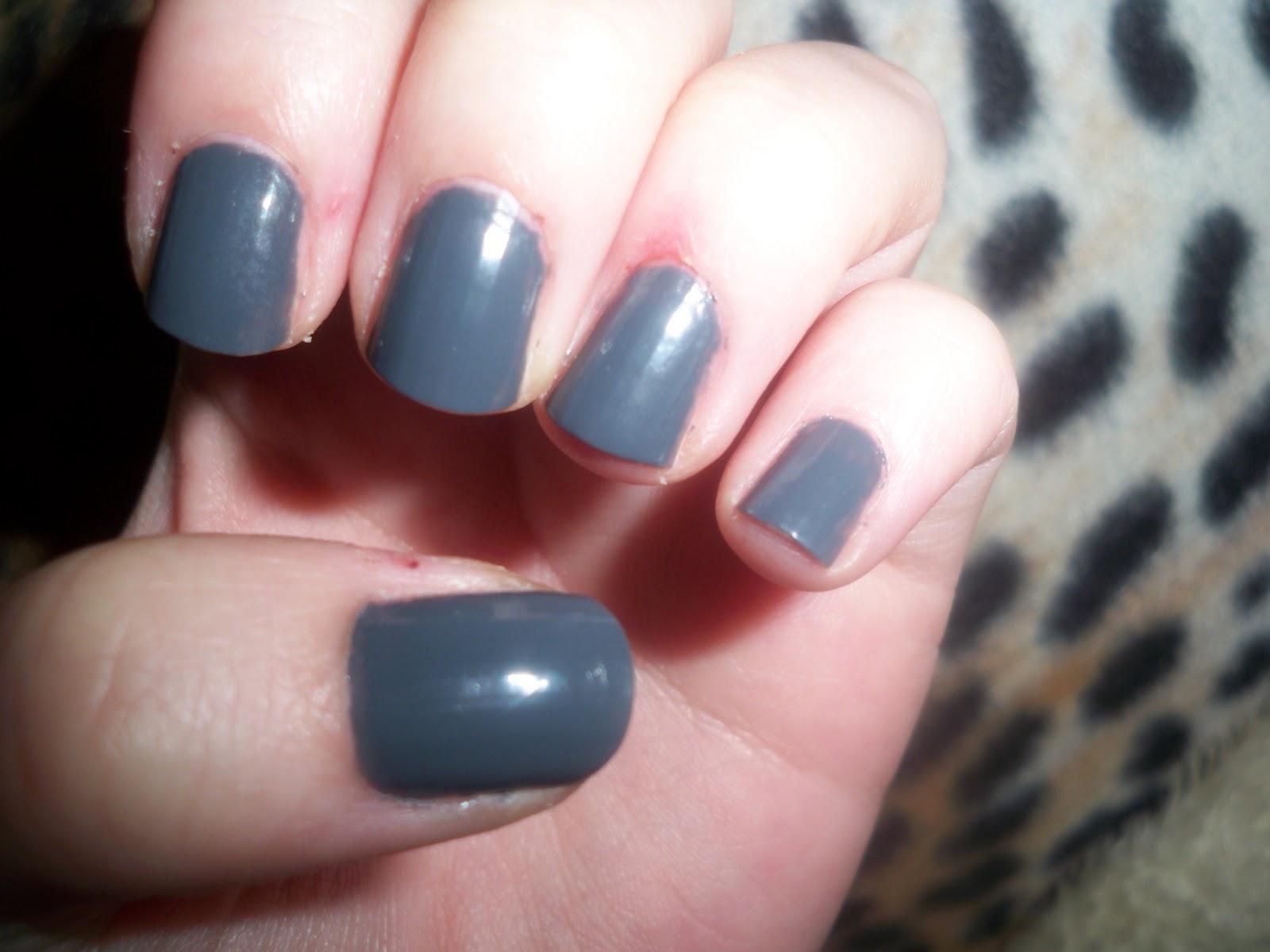 Life in the City: New dark gray nail polish!