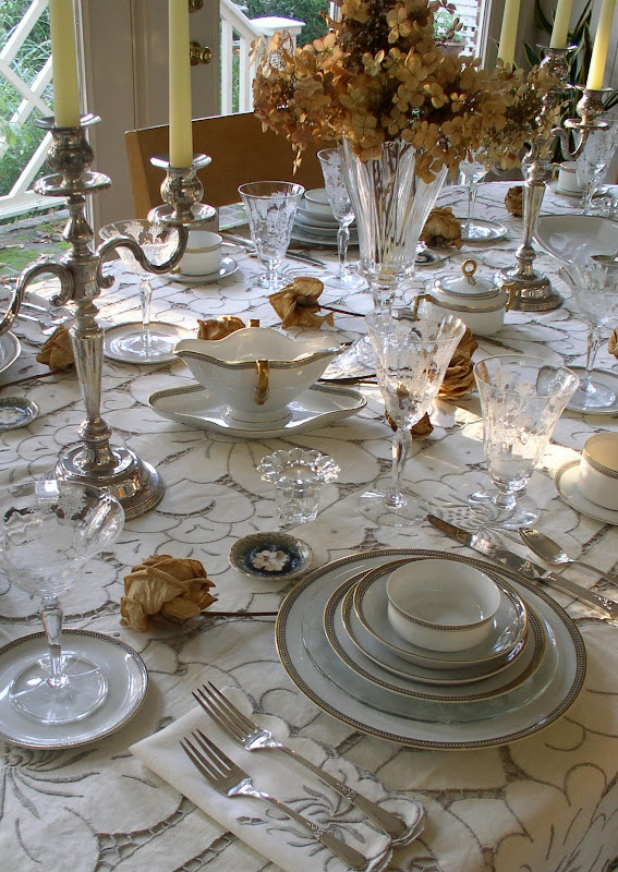 Bill's Crystal and Vintage China Table Setting