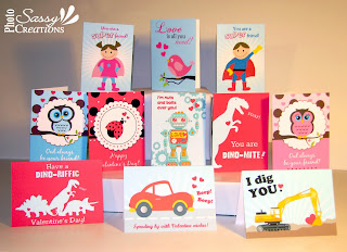 Valentine's day cards for kids from Sassy Photo Creations