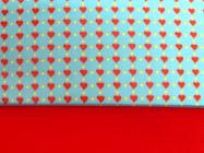 turquesa de corações com vermelho
