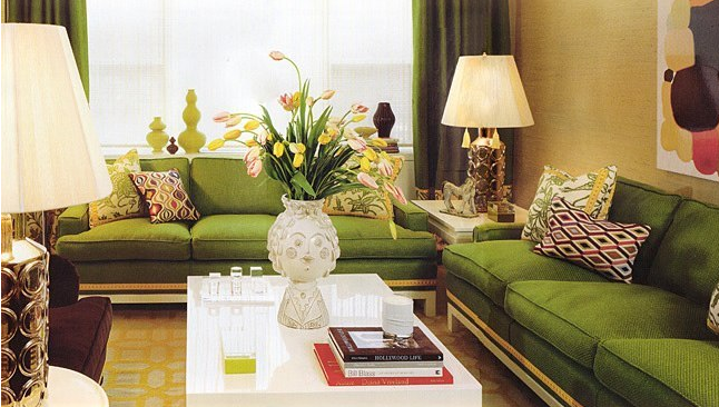 living room color schemes green